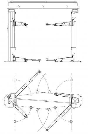pont elevateur 2 colonnes electromecanique ravaglioli pont l vateur mat riel et equipement de. Black Bedroom Furniture Sets. Home Design Ideas