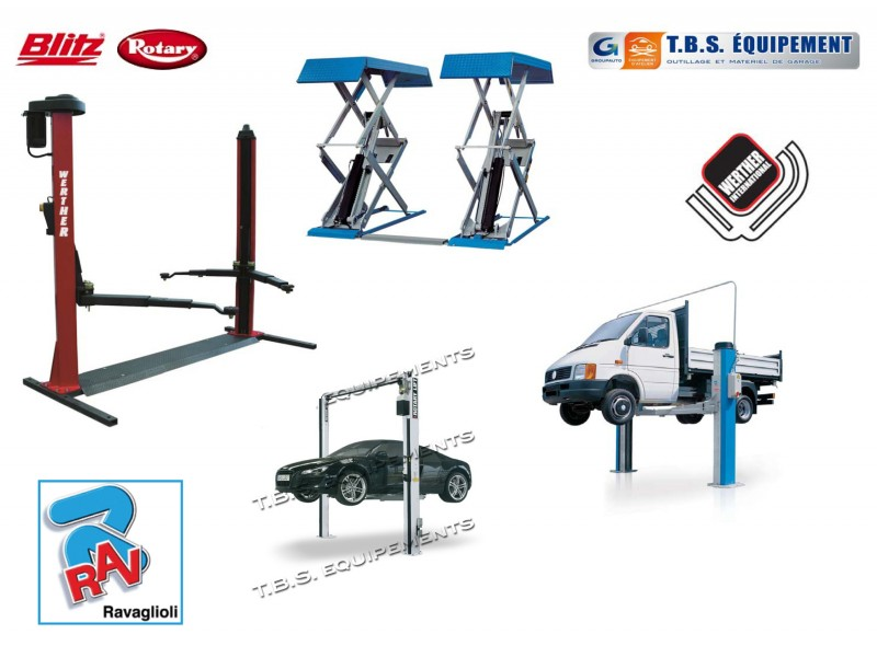 Equipement de garage ponts elevateurs s lection tbs mat riel et equipement de garage auto - Materiel de garage automobile ...